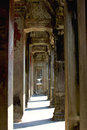 Angkor wat walk way around siem reap cambodia Stock Photo