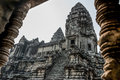 Angkor Wat Window. Religion, Tradition, Culture. Cambodia, Asia. Royalty Free Stock Photo