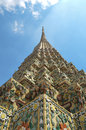 Angle of Pagoda at Wat Pho , Bangkok in Thailand Royalty Free Stock Photos