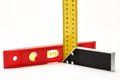 Angle ruler and balance level Royalty Free Stock Photography