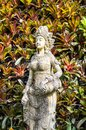 Angle statue in garden Royalty Free Stock Photo