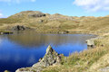 Angle Tarn and Angletarn Pikes, Lake District. Stock Photography