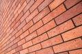 Angle View Red Brick Wall