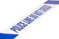Angled Police Crime Scene Tape...