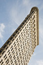 Angled view at Flatiron BUilding in New York City Royalty Free Stock Photo