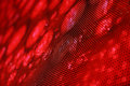 Angled view led screen showing stylish red image shallow depth field blurred effect Royalty Free Stock Photo