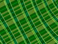 Angled Warped Plaid Green Pattern St Patricks Day Illustration Background