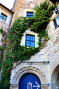 Angled window in a german castle Stock Photos