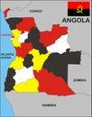 Angola Map Royalty Free Stock Photo