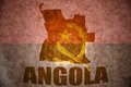 Angola vintage map Royalty Free Stock Photo