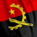 Angolan Flag Closeup Stock Photos