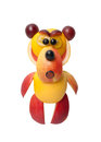 Angry bear made of fruits Royalty Free Stock Photo
