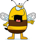 Angry Bee Royalty Free Stock Photos