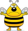 Angry Bee Royalty Free Stock Photography