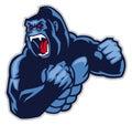 Angry big gorilla
