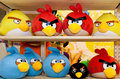Angry birds toys very popular franchise Stock Image