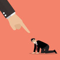 Angry boss being complaining to desperate businessman vector illustration Stock Image