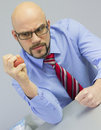 Angry boss Royalty Free Stock Photo