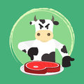 Angry bovine and no beef Royalty Free Stock Photo