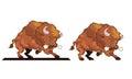 Angry bull mascot vector illustration of snorting Royalty Free Stock Photo
