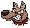Angry cartoon dog vector illustration of Royalty Free Stock Images