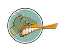 Angry cartoon duck illustration of an Stock Photography