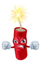 Angry cartoon dynamite stick an illustration of an looking firecracker or of character or mascot Royalty Free Stock Photography
