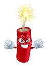 Angry cartoon firecracker Royalty Free Stock Photo