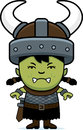 Angry cartoon orc child a illustration of an looking Stock Photography