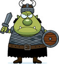 Angry cartoon orc a illustration of an looking Stock Photos