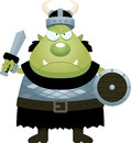 Angry cartoon orc a illustration of an looking Royalty Free Stock Photo