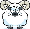 Angry cartoon ram a illustration of a looking Royalty Free Stock Photo