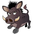 Angry cartoon warthog Royalty Free Stock Image