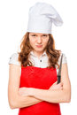 Angry chef with a sharp knife Royalty Free Stock Photo