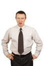 Angry chief Royalty Free Stock Photo