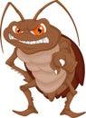 Angry cockroach cartoon