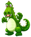 An angry crocodile illustration of on a white background Royalty Free Stock Image