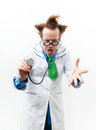 Angry doctor Stock Photography