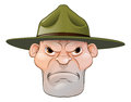 Angry Drill Sergeant Cartoon Royalty Free Stock Photo