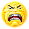 Angry Emoji Emoticon Icon Royalty Free Stock Photo