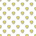 Angry Emoji Graphic Seamless Pattern