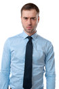 Angry emotion on face of business man Royalty Free Stock Photo