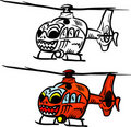 Angry eurocopter Stock Photos