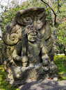 Angry eye vajra guardian statue buddha is of buddha dharma in buddhism Royalty Free Stock Photo