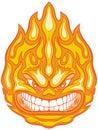 Angry Face Fireball Vector Clip Art Cartoon