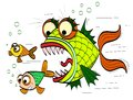 Angry fish Stock Photography