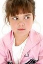 Angry Five Year Old Girl Royalty Free Stock Photo