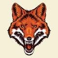 Angry Fox Head Mascot Royalty Free Stock Photo