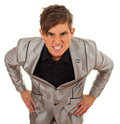 Angry, furious young businessman Royalty Free Stock Photo