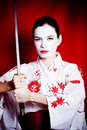 Angry Geisha Royalty Free Stock Photos